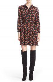 Diane von Furstenberg  Chrissie  Print Stretch Silk Fit   Flare Dress at Nordstrom