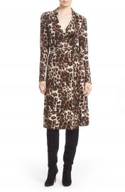 Diane von Furstenberg  Cybil  Leopard Print Silk Wrap Dress at Nordstrom