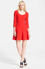 Diane von Furstenberg  Paloma  Woven Fit   Flare Dress at Nordstrom