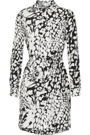 Diane von Furstenberg  Prita printed silk crepe de chine dress at Net A Porter