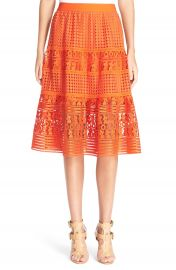 Diane von Furstenberg  Tiana  Lace Midi Skirt at Nordstrom