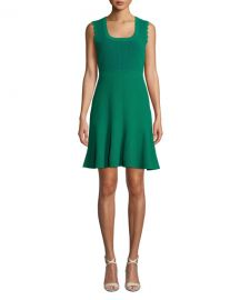 Diane von Furstenberg Adi Ribbed Sleeveless Short Dress at Neiman Marcus