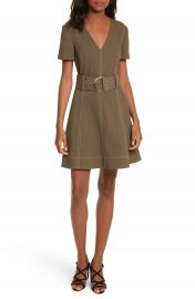 Diane von Furstenberg Belted Fit   Flare Dress at Nordstrom