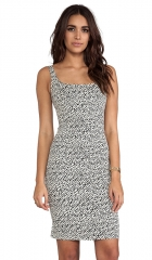 Diane von Furstenberg Bridget Snake Wave Jacquard Dress in Cream and Black and Snake  REVOLVE at Revolve