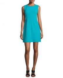 Diane von Furstenberg Carrie Sleeveless Sheath Dress  Blue Lagoon at Neiman Marcus