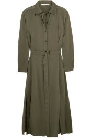 Diane von Furstenberg Clarise silk-blend shirt dress at Net A Porter