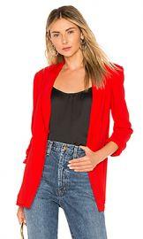 Diane von Furstenberg Collared Blazer in Candy Red from Revolve com at Revolve