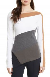 Diane von Furstenberg Colorblock Asymmetrical Top at Nordstrom