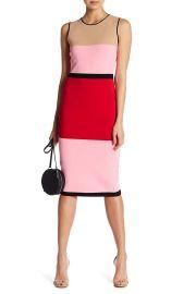 Diane von Furstenberg Colorblock Knit Midi Dress at Amazon