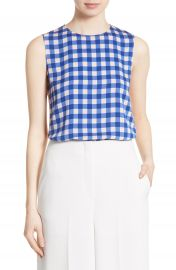 Diane von Furstenberg Colorblock Print Silk Shell at Nordstrom