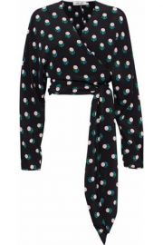 Diane von Furstenberg Cropped Print Blouse at The Outnet