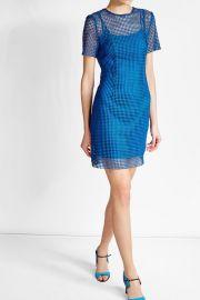 Diane von Furstenberg Dress with Mesh Overlay at Stylebop