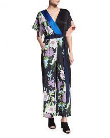 Diane von Furstenberg Floral Jumpsuit at Neiman Marcus