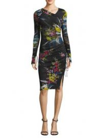 Diane von Furstenberg Floral-Print Ruched Dress at Saks Off 5th