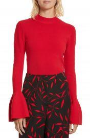 Diane von Furstenberg Flutter Sleeve Mock Neck Sweater at Nordstrom