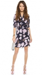 Diane von Furstenberg Freya 34 Sleeve Dress at Shopbop