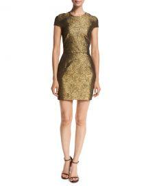 Diane von Furstenberg Hadlie Two Metallic Mini Dress at Neiman Marcus
