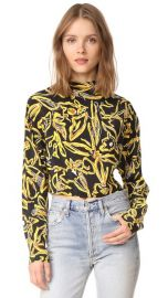 Diane von Furstenberg High Neck Blouse at Shopbop