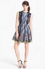 Diane von Furstenberg Ida Wool Blend Fit andamp Flare Dress at Nordstrom