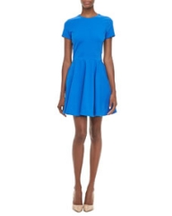 Diane von Furstenberg Ivana Short-Sleeve Full-Skirt Dress at Neiman Marcus