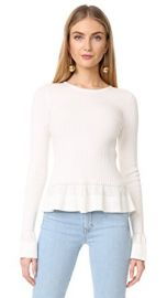 Diane von Furstenberg Knit Peplum Top at Amazon