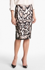 Diane von Furstenberg Mae Mikado Pencil Skirt at Nordstrom