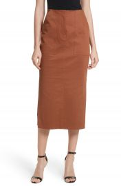 Diane von Furstenberg Midi Twill Pencil Skirt at Nordstrom