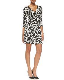 Diane von Furstenberg New Julian Two Printed Mini Wrap Dress at Neiman Marcus