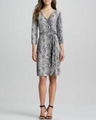 Diane von Furstenberg New Julian Two Snake-Print Silk Jersey Dress at Neiman Marcus