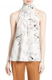 Diane von Furstenberg Print Silk High Neck Blouse at Nordstrom