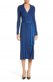 Diane von Furstenberg Ribbed Wrap Dress at Nordstrom