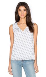 Diane von Furstenberg Rissa Tank in White  amp  Midnight from Revolve com at Revolve