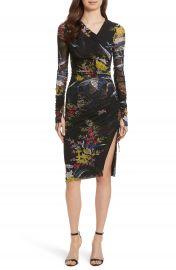 Diane von Furstenberg Ruched Faux Wrap Dress at Nordstrom