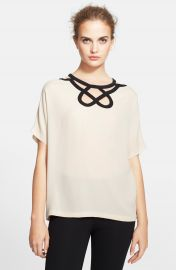Diane von Furstenberg Short Sleeve Cutout Top at Nordstrom