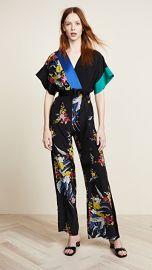 Diane von Furstenberg Short Sleeve Jumpsuit at Shopbop
