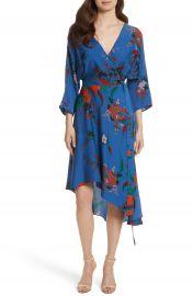 Diane von Furstenberg Silk Asymmetrical Wrap Dress at Nordstrom
