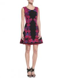 Diane von Furstenberg Sleeveless Floral Body-Conscious Dress at Neiman Marcus