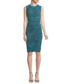 Diane von Furstenberg Sleeveless Ruched Mesh Dress   Neiman at Neiman Marcus
