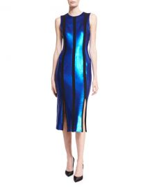 Diane von Furstenberg Sleeveless Tailored Sequin Paneled Dress at Neiman Marcus