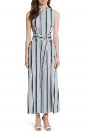 Diane von Furstenberg Stripe Belted Maxi Dress at Nordstrom