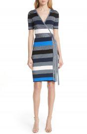 Diane von Furstenberg Stripe Knit Wrap Dress at Nordstrom