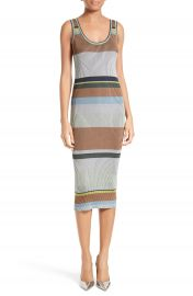 Diane von Furstenberg Stripe Tank Midi Dress at Nordstrom