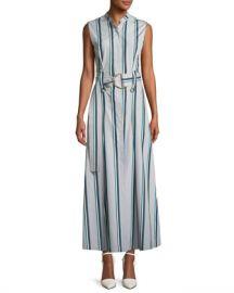 Diane von Furstenberg Striped Sleeveless Belted Maxi Dress at Neiman Marcus