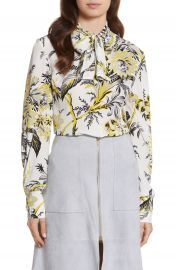 Diane von Furstenberg Tie Neck Silk Blouse at Nordstrom
