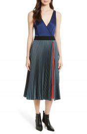 Diane von Furstenberg V-Neck Pleated Wrap Dress at Nordstrom
