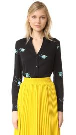Diane von Furstenberg V Neck Shirt at Shopbop