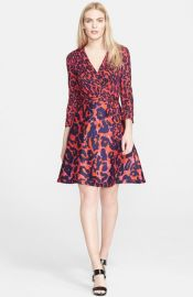 Diane von Furstenberg and39Ameliaand39 Print Cotton andamp Silk Wrap Dress at Nordstrom