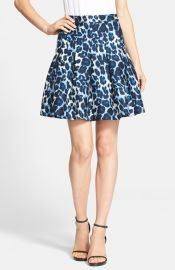 Diane von Furstenberg and39Gemmaand39 Leopard Print Pleated Skirt at Nordstrom