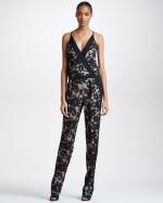 Diane von Furstenberg lace jumpsuit at Bergdorf Goodman