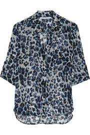 Diane von FurstenbergandnbspandnbspLorelei Two leopard-print silk-chiffon shirt at Net A Porter